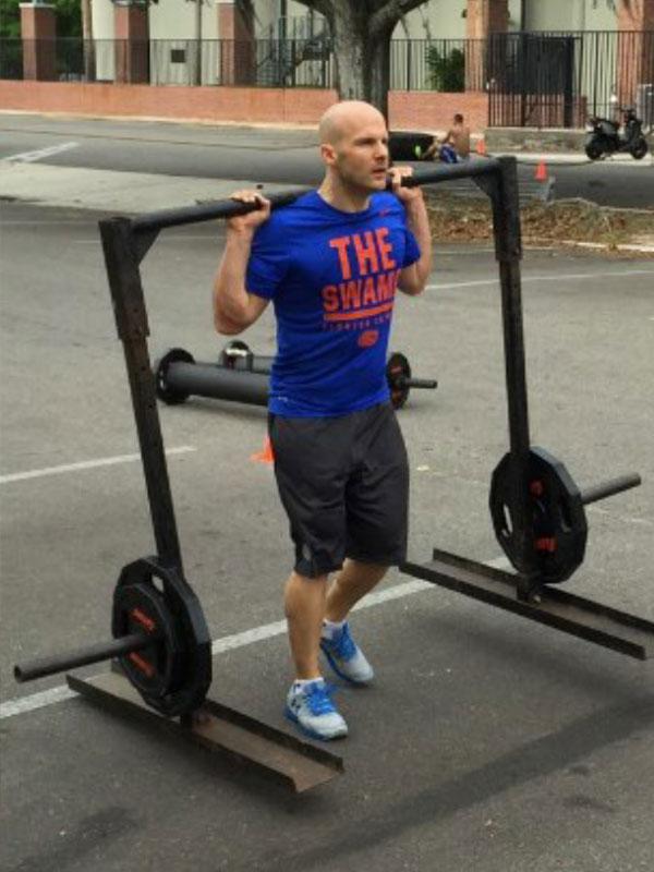 Daniel beim Training in Florida