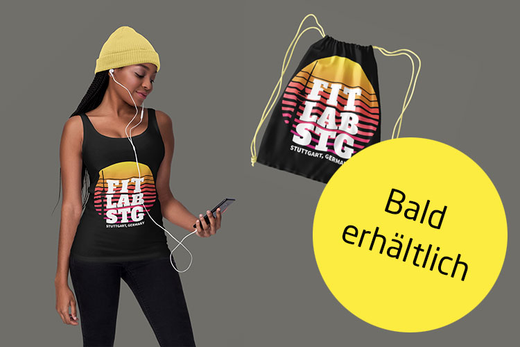 Bald erhältlich! Coole Sportswear mit Fitlab-Branding